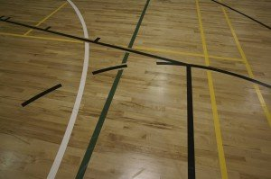Timber sports floor maintenance